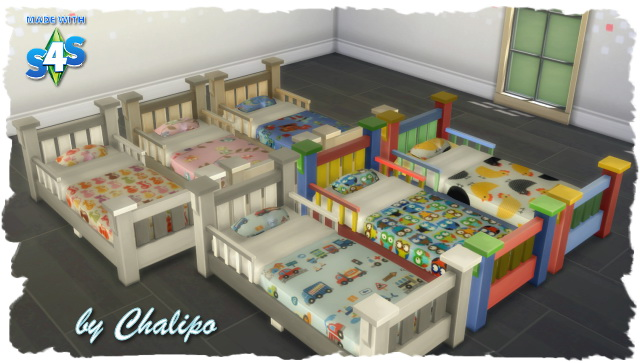 Sims 4 Toddler bed by Chalipo at All 4 Sims