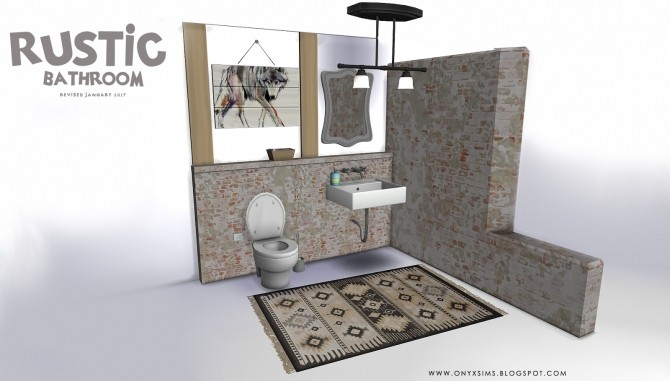 Rustic Bathroom at Onyx Sims image 5815 670x381 Sims 4 Updates