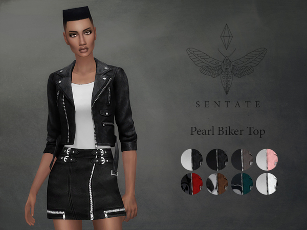 Pearl Biker Jacket by Sentate at TSR image 590 Sims 4 Updates