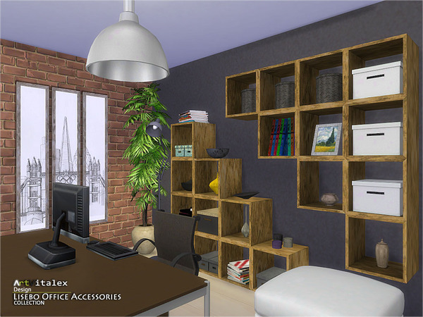 Lisebo Office Accessories by ArtVitalex at    select a Sites    image 594 Sims 4 Updates