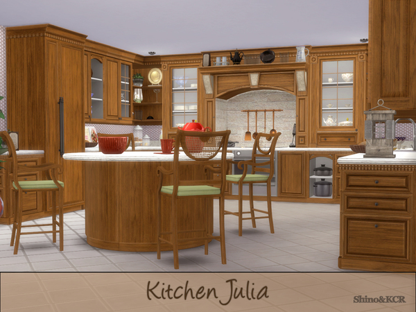 Julia kitchen by ShinoKCR at TSR image 60 Sims 4 Updates