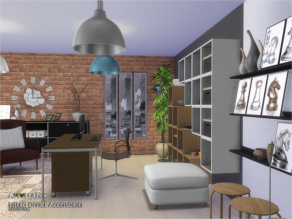 Lisebo Office Accessories by ArtVitalex at    select a Sites    image 604 Sims 4 Updates