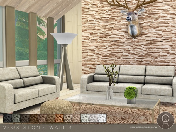 VEOX Stone Wall 4 by Pralinesims at TSR image 614 Sims 4 Updates