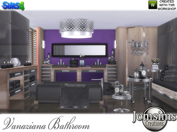 Vanaziana bathroom by jomsims at TSR image 616 Sims 4 Updates