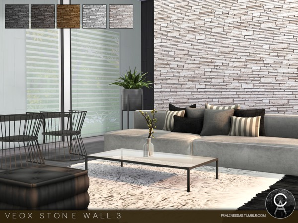 VEOX Stone Wall 3 by Pralinesims at TSR image 623 Sims 4 Updates