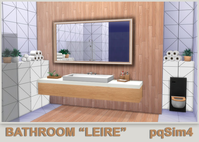 Leire bathroom by Mary Jiménez at pqSims4 image 634 Sims 4 Updates