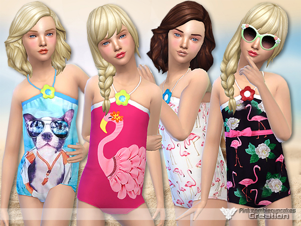 Sims 4 Little Paradise Swimwear Collection by Pinkzombiecupcakes at TSR