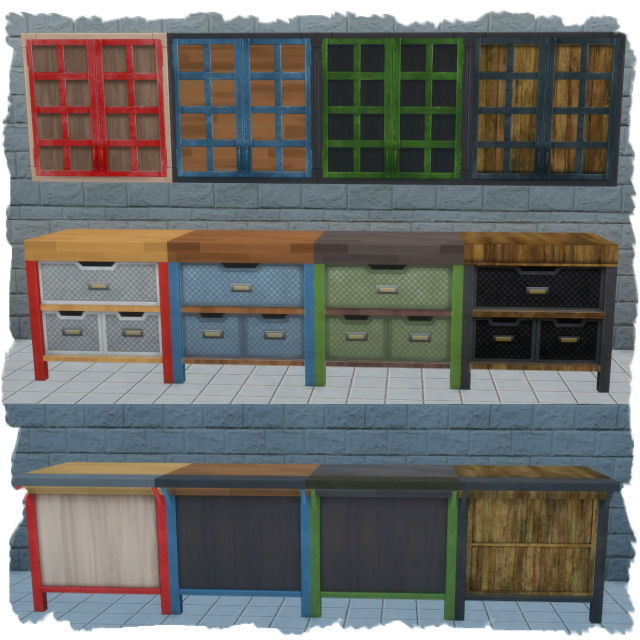 Sims 4 Industrial Kitchen recolors by Chalipo at All 4 Sims