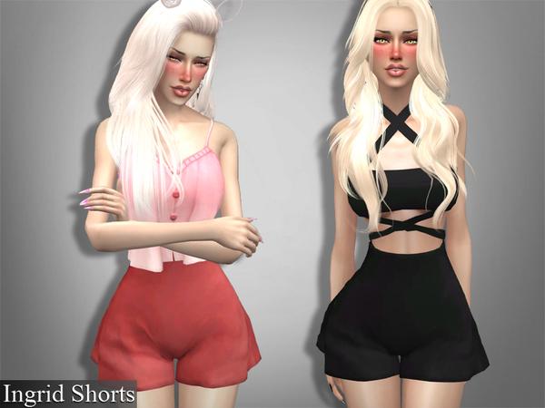 Sims 4 Ingrid Shorts by Genius666 at TSR