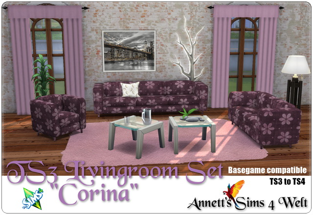 TS3 to TS4 Livingroom Set Corina at Annett's Sims 4 Welt image 685 Sims 4 Updates