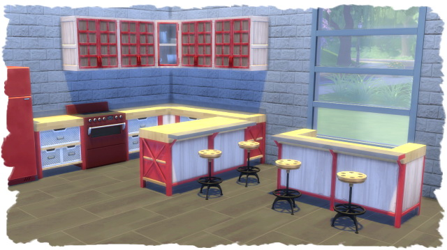 Industrial Kitchen recolors by Chalipo at All 4 Sims image 686 Sims 4 Updates