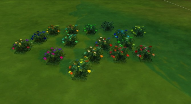 Sims 4 Recolor of lovely lavender and dull daisies by Fitz71000 at Mod The Sims