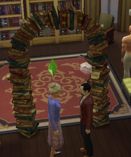 Librarians in Love Wedding Arch Bookcase by Leniad at Mod The Sims image 689 Sims 4 Updates