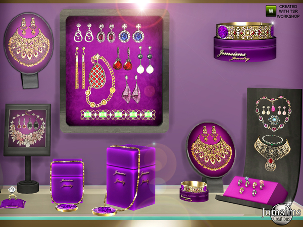 Display and jewelry set by jomsims at TSR image 690 Sims 4 Updates