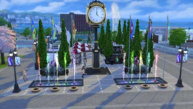 Sims 4 Park Relógio das Bandeiras by JessCriss at Mod The Sims