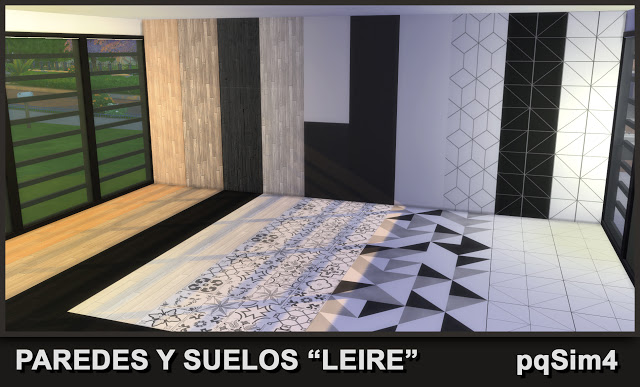 Sims 4 Leire walls and floors by Mary Jiménez at pqSims4