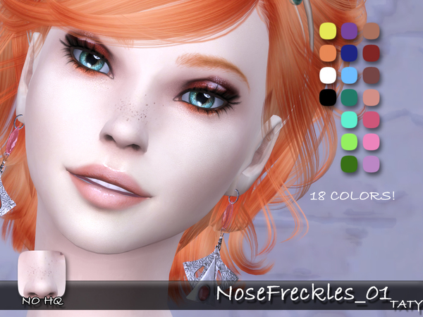 Nose Freckles Blush by tatygagg at TSR image 704 Sims 4 Updates