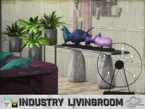 Industry livingroom by BuffSumm at TSR image 710 Sims 4 Updates