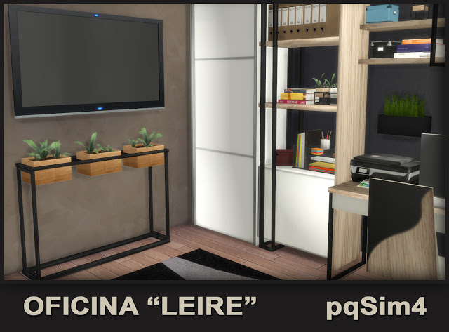 Leire office by Mary Jiménez at pqSims4 image 7120 Sims 4 Updates