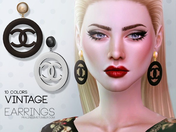 Vintage Earrings By Pralinesims At Tsr 187 Sims 4 Updates