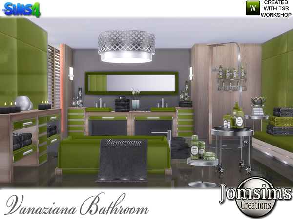 Vanaziana bathroom by jomsims at TSR image 720 Sims 4 Updates