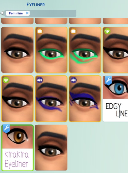 Sims 4 KiraKira Eyeliners winged liner by Staarchild at Mod The Sims