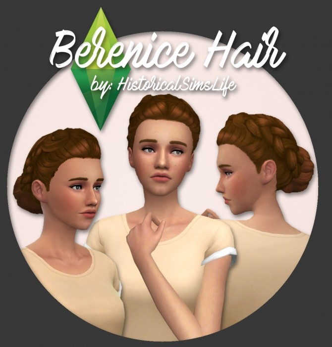 Berenice Hair at Historical Sims Life image 745 670x702 Sims 4 Updates