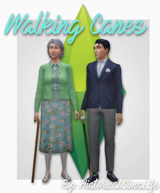 Walking Canes / Sticks at Historical Sims Life image 752 Sims 4 Updates