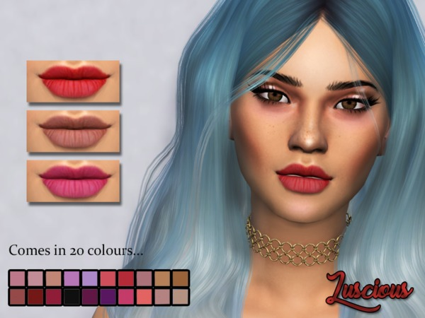 Sims 4 Luscious Lipstick by Kitty.Meow at TSR