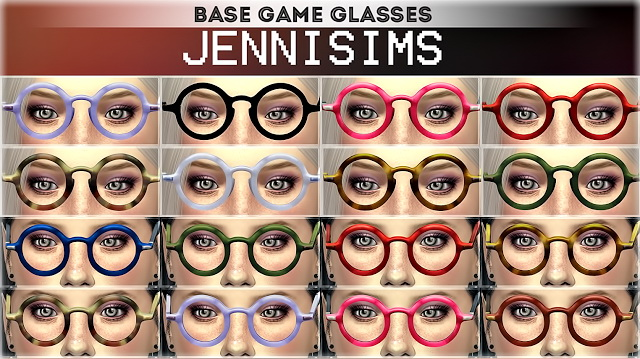 Collection Glasses Vintage Base Game compatible (2 versions) at Jenni Sims image 7571 Sims 4 Updates