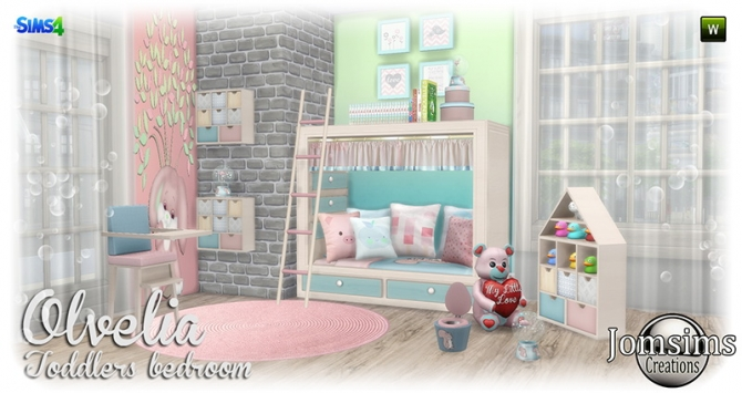 Olvelia Toddlers Bedroom At Jomsims Creations Sims 4 Updates