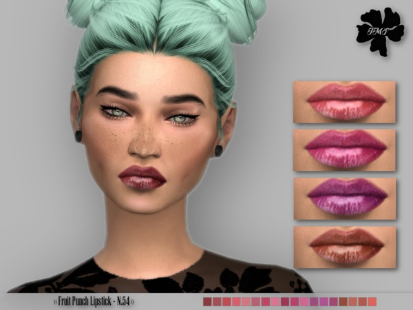 Sims 4 IMF Fruit Punch Lipstick N.54 by IzzieMcFire at TSR