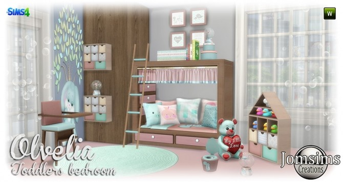 Olvelia Toddlers Bedroom at Jomsims Creations Sims 4 Updates – Toddlers Bedroom