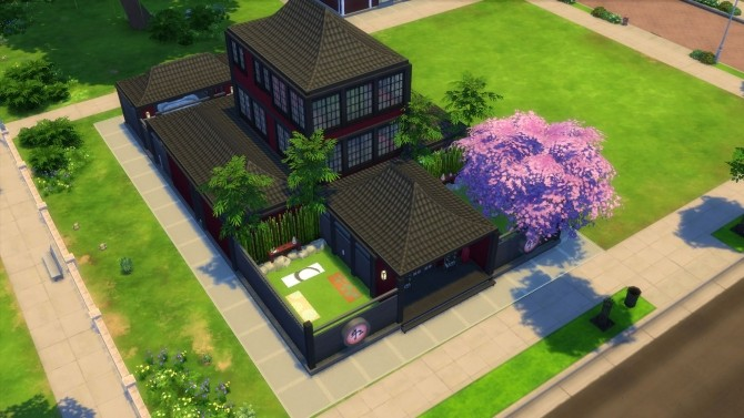 Sims 4 Cherry Blossom Spa by JessCriss at Mod The Sims
