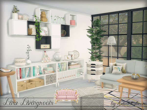 Lina Livingroom By Arwenkaboom At Tsr 187 Sims 4 Updates
