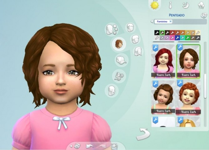 Sims 4 Delirious Hair for Toddlers at My Stuff