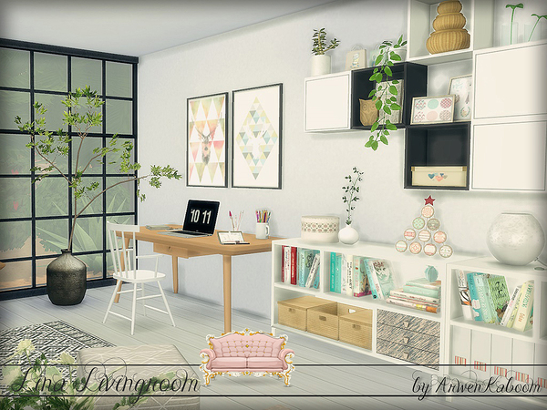 Lina Livingroom by ArwenKaboom at TSR image 802 Sims 4 Updates