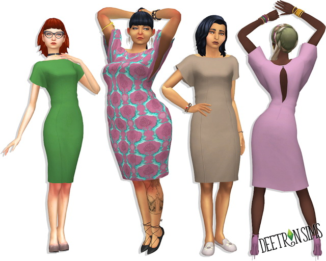 Batwing Dress at Deetron Sims image 803 Sims 4 Updates