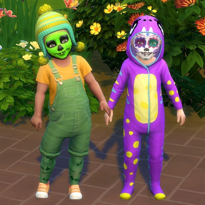 Sims 4 Various Socks, Tights and Facepaint converted for Toddlers by K9DB at Mod The Sims