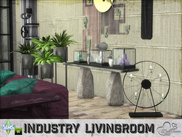 Industry livingroom by BuffSumm at TSR image 81 Sims 4 Updates