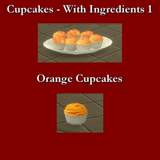 Custom Food Cupcakes with Ingredients 1 by Leniad at Mod The Sims image 8120 670x670 Sims 4 Updates
