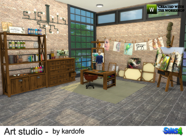 Art studio by kardofe at TSR image 813 Sims 4 Updates