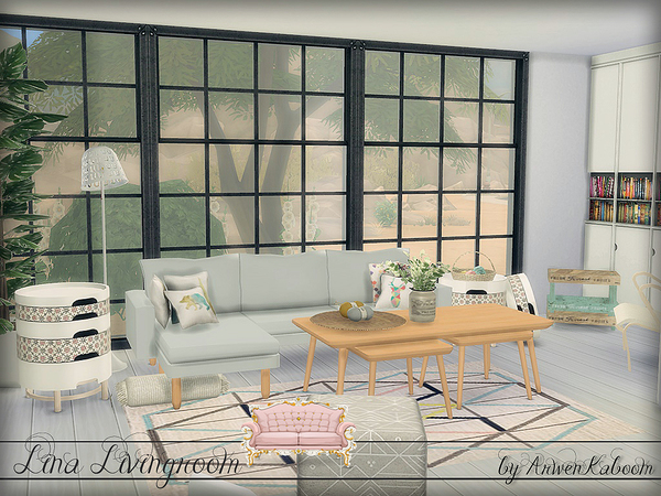 Lina Livingroom by ArwenKaboom at TSR image 814 Sims 4 Updates