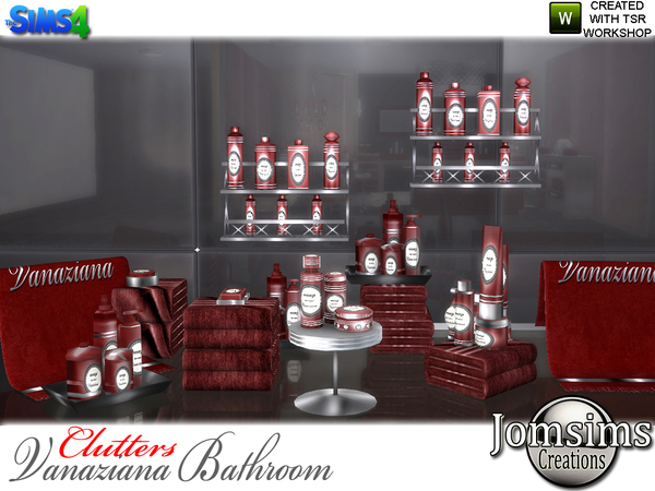 Vanaziana bathroom clutters by jomsims at TSR image 815 Sims 4 Updates