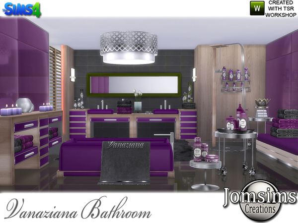 Vanaziana bathroom by jomsims at TSR image 817 Sims 4 Updates