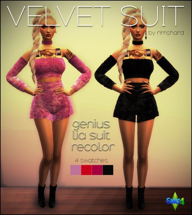 Velvet Suit at Rimshard Shop image 818 670x751 Sims 4 Updates