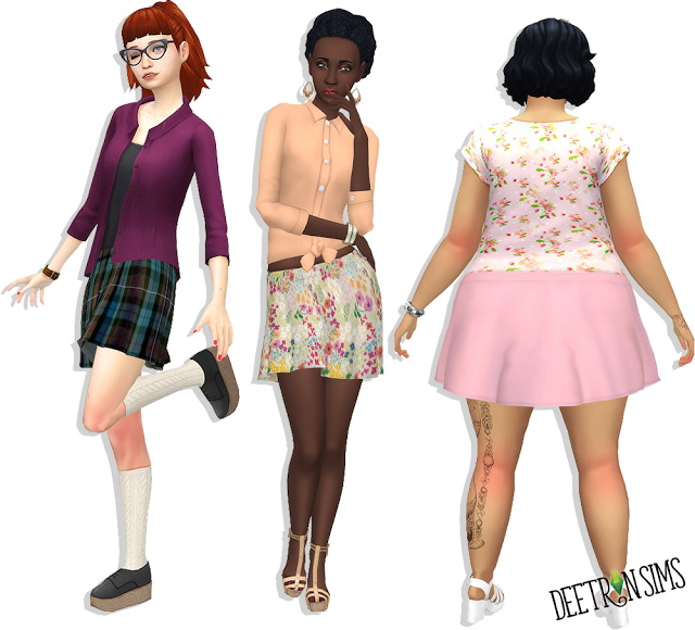 Sims 4 See you Later Skater Skirt at Deetron Sims