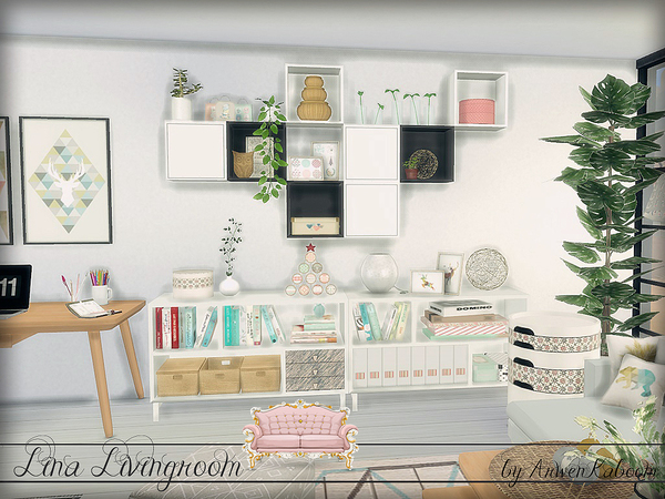 Lina Livingroom by ArwenKaboom at TSR image 823 Sims 4 Updates