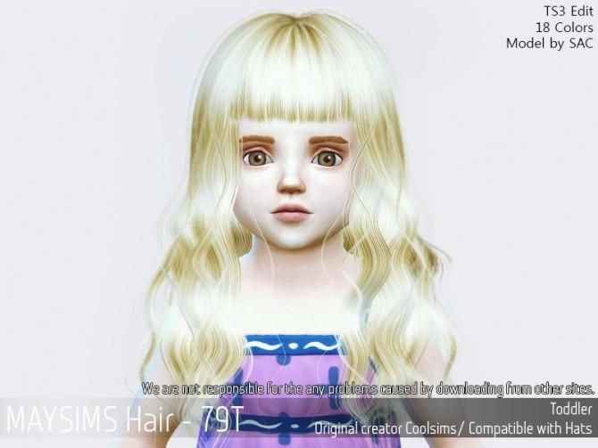 Sims 4 Hair 79T (Coolsims) at May Sims