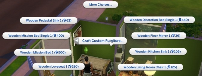 Woodwork Custom Furniture N Toys Menus by Leniad at Mod The Sims image 853 670x253 Sims 4 Updates